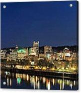 Portland Downtown Skyline At Blue Hour Acrylic Print
