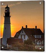 Portland Head Light At Sunrise IIi Acrylic Print