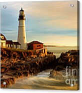 Portland Head Lighthouse At Dawn Acrylic Print