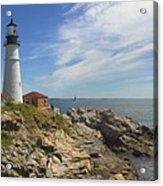 Portland Head Lighthouse Panoramic Acrylic Print