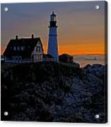Portland Head Lighthouse Sunrise 2 Acrylic Print