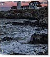 Portland Head Lighthouse Sunset Acrylic Print