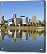 Portland Oregon Downtown Skyline Reflection 3 Acrylic Print