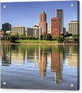 Portland Oregon Downtown Skyline Reflection Acrylic Print