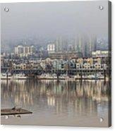 Portland Oregon Foggy Morning Acrylic Print