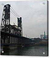 Portland Oregon Steel Bridge Acrylic Print