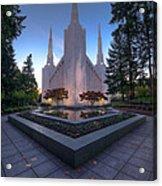 Portland Temple Acrylic Print