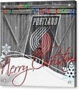 Portland Trailblazers Acrylic Print by Joe Hamilton