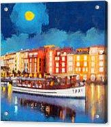 Portofino By Night Acrylic Print