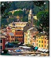 Portofino Acrylic Print by Carl Jackson