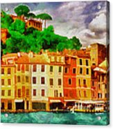 Portofino I Acrylic Print by George Rossidis