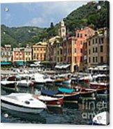 Portofino Port Entrance Acrylic Print