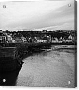 Portpatrick Village And Breakwater Scotland Uk Acrylic Print
