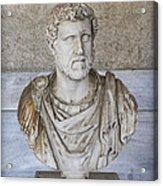 Portrait Bust Of The Emperor Antoninus Plus Acrylic Print by Radoslav Nedelchev