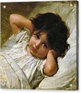 Portrait De Marie-louise  Acrylic Print