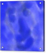 Portrait In Blue Acrylic Print