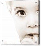Portrait Of A Baby Acrylic Print