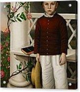 Portrait Of A Boy Acrylic Print by James B Read