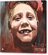 Portrait Of A Con Artist Acrylic Print by Sharon Burger