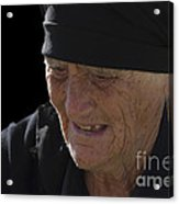 Portrait Of A Fishermans Wife Acrylic Print