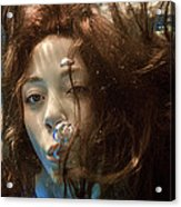Portrait Of A Girl Under Water Acrylic Print