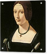 Portrait Of A Lady As Saint Lucy Acrylic Print