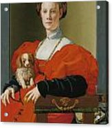 Portrait Of A Lady With A Lapdog Acrylic Print