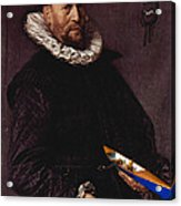 Portrait Of A Man Holding A Skull 1612 Acrylic Print