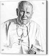 Portrait Of A Saint Acrylic Print by Smith Catholic Art
