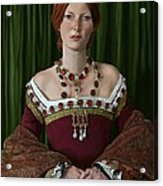 Portrait Of A Tudor Lady Acrylic Print