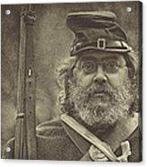 Portrait Of A Union Soldier Acrylic Print by Pat Abbott