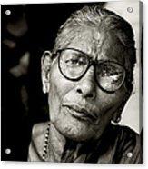 Portrait Of A Woman In Madurai Acrylic Print