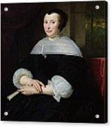 Portrait Of A Woman Oil On Canvas Acrylic Print