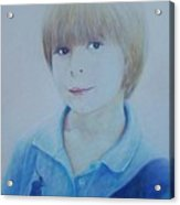 Portrait Of A Young Boy Acrylic Print