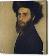 Portrait Of A Young Jewish Man  Acrylic Print by Isidor Kaufmann