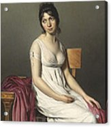 Portrait Of A Young Woman In White Acrylic Print by Jacques Louis David