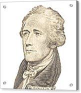 Portrait Of Alexander Hamilton On White Background Acrylic Print