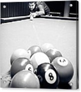 Portrait Of An Awesome Pool Player Acrylic Print