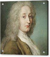 Portrait Of Antoine Watteau 1684-1721 Pastel On Paper Acrylic Print