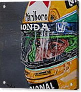 Portrait Of Ayrton Senna Acrylic Print