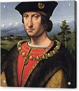 Portrait Of Charles Damboise 1471-1511 Marshal Of France Oil On Panel Acrylic Print