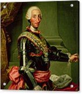 Portrait Of Charles IIi 1716-88 C.1761 Oil On Canvas Acrylic Print