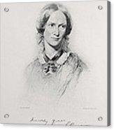 Portrait Of Charlotte Bronte, Engraved Acrylic Print