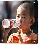 Portrait Of Chinese Child In Xian China Acrylic Print