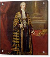Portrait Of Colonel Sir Samuel Wilson, Lord Mayor Of London, 1838 Oil On Canvas Acrylic Print