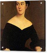 Portrait Of Cornelia Knott Miltenberger Acrylic Print
