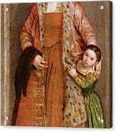 Portrait Of Countess Livia Da Porto Thiene And Her Daughter Deidamia Acrylic Print