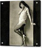 Portrait Of Dancer Ann Pennington Acrylic Print