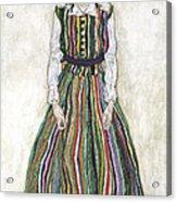 Portrait Of Edith Schiele, The Artists Acrylic Print