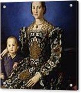 Portrait Of Eleanor Of Toledo With Her Son Giovanni De' Medici Acrylic Print